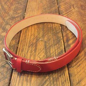 Talbots red leather belt in medium